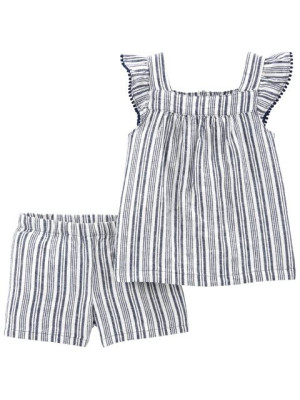 Carter's Set 2 piese top si pantaloni scurti de in