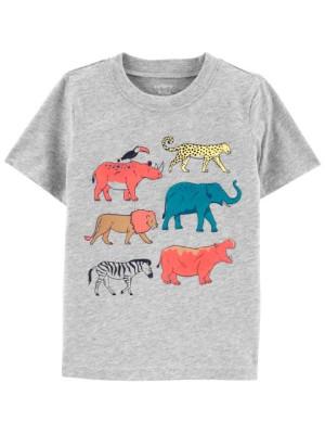 Carter's Tricou gri Animale