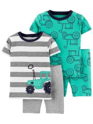 Carter's Set 2 pijamale Tractor