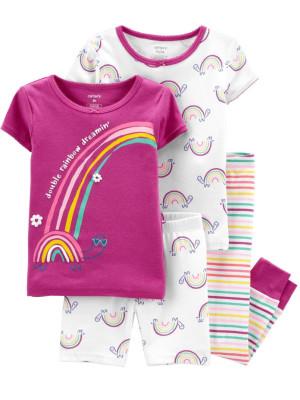Carter's Set 2 pijamale Curcubeu