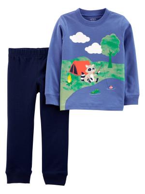 Carter's Set 2 piese pantaloni si bluza Raton
