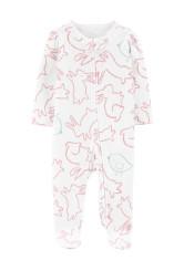 Carter's Pijama cu fermoar reversibil Iepurasi 100% Bumbac Organic