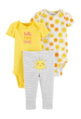 Carter's Set 3 Piese 2 body-uri si pantaloni Soare