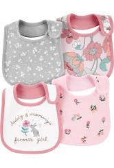 Carter's Set 4 bavețici bebe Flori
