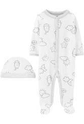 Carter's Set 2 piese pijama si caciulita Nori