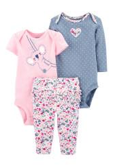 Carter's Set 3 Piese bebelus 2 body si pantaloni Koala