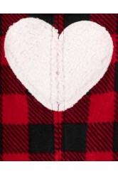 Carter's Pijama bebe cadrilata Inima