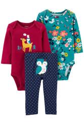 Carter's Set 3 Piese bebelus 2 body si pantaloni Bufnita