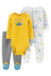 Carter's Set 3 Piese bebe pijama body si pantaloni Dinozaur