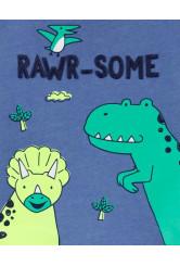 Carter's Set 2 piese tricou si pantaloni scurti Dinozaur