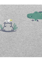 Carter's Set 2 piese salopeta de vara Hipopotam