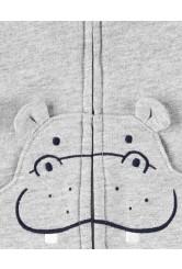 Carter's Set 3 piese vesta, body si pantaloni Hipopotam