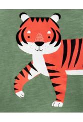Carter's Set 2 piese tricou si pantaloni scurti Tigru