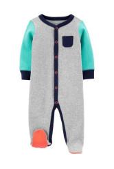 Carter's Pijama cu capse colorblock