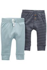 Carter's Set 2 piese pantaloni cu snur si nasturi