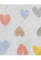Carter's Pijama cu fermoar reversibil Inimioare