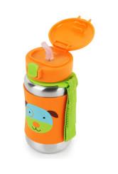 Skip Hop Sticla cu pai din otel inoxidabil Zoo - Catel