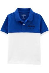 OshKosh Tricou tip polo alb/albastru