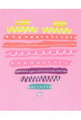 Oshkosh Tricou roz cu inimioara