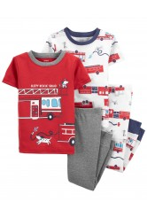 Carter's Set 2 pijamale Masina de pompieri