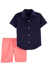 Carter's Set 2 piese camasa si pantaloni scurti