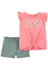 Carter's Set 2 piese tricou si pantaloni scurti Sora