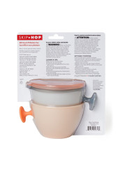Skip Hop - Set 2 boluri ergonomice - Soft gri + coral
