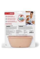 Skip Hop - Set de calatorie pentru hranire (bol + lingurita) - Soft coral