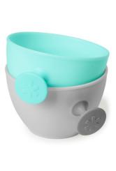 Skip Hop - Set 2 boluri ergonomice - Soft gri + turcoaz