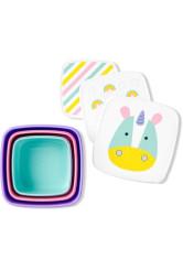 Skip Hop Set 3 cutii pentru pranz Zoo - Unicorn
