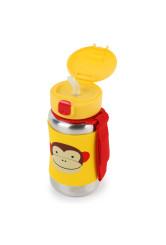 Skip Hop - Sticla cu pai din otel inoxidabil Zoo Monkey