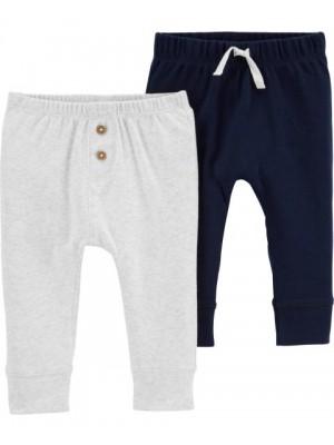 Carter's Set 2 piese pantaloni bebe nasturi / siret