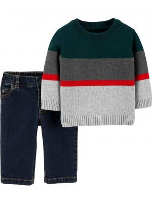 Carter's Set 2 Piese pulover si pantaloni