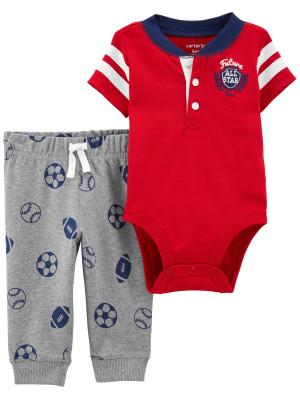 Carter's Set 2 piese bebe pantaloni si body Fotbal