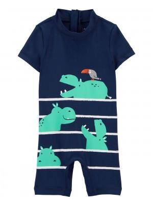 Carter's Costum de baie cu protectie solara Hipopotam