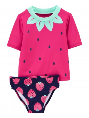 Carter's Costum de baie cu protectie solara Capsuni