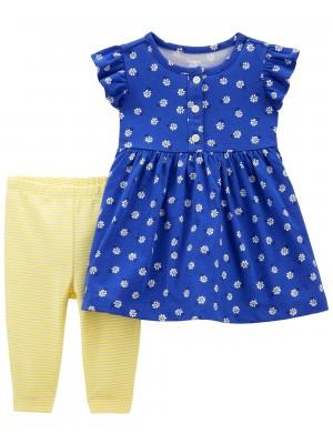 Carter's Set 2 piese rochita si pantaloni Flori