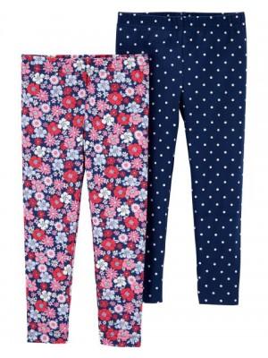 Carter's-Set 2 pantaloni flori buline