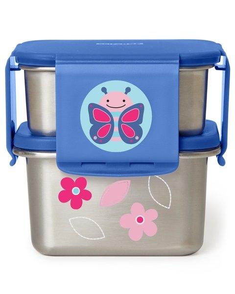 Skip Hop Kit pentru pranz din otel inoxidabil Zoo - Fluture imagine