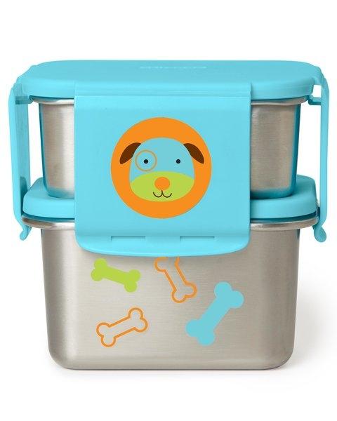 Skip Hop Kit pentru pranz din otel inoxidabil Zoo - Catel imagine