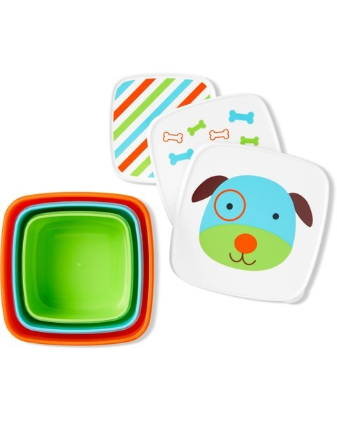 Skip Hop Set 3 cutii pentru pranz Zoo - Catel imagine
