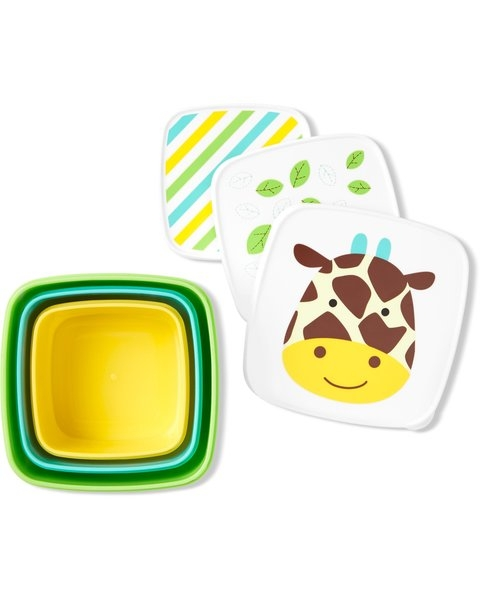 Skip Hop Set 3 cutii pentru pranz Zoo - Girafa imagine